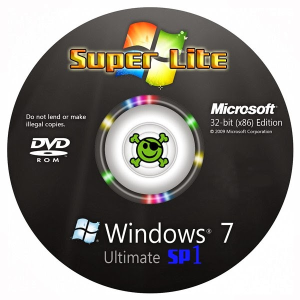 Microsoft Windows 7 SP1 Super Lite x86 iso