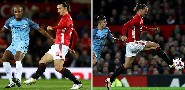 Ibrahimovic jugó con botines Nike y adidas contra el Manchester City