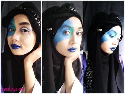 water inspired makeup