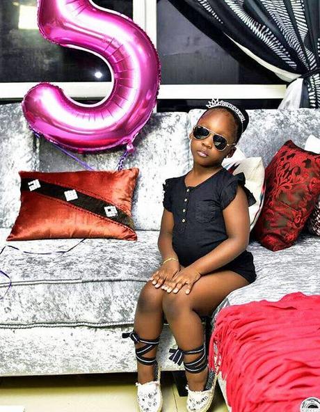 Nigerian popular singer, Timaya celebrates his daughter at 5
