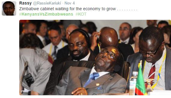 Kenya vs Zimbabwe twitter