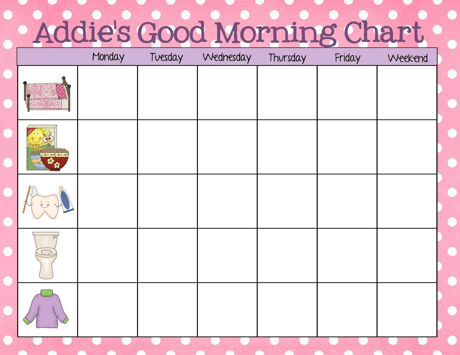 blank sticker chart – Blank Reward Chart