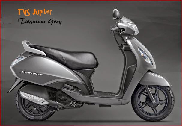 TVS Jupiter Titanium Grey colour 2018