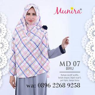 Jilbab Munira MD 07 Koleksi jilbab syar'i terbaru dewasa