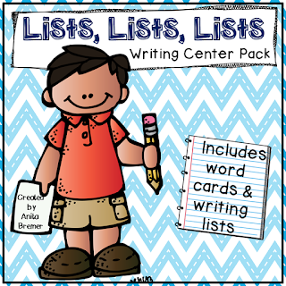 Writing center ideas and activities for Daily 5 work on writing for First Grade and Second Grade