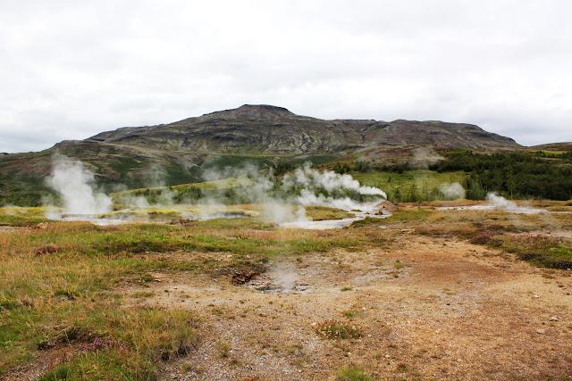 Fumarolas en el valle de Haukadalur