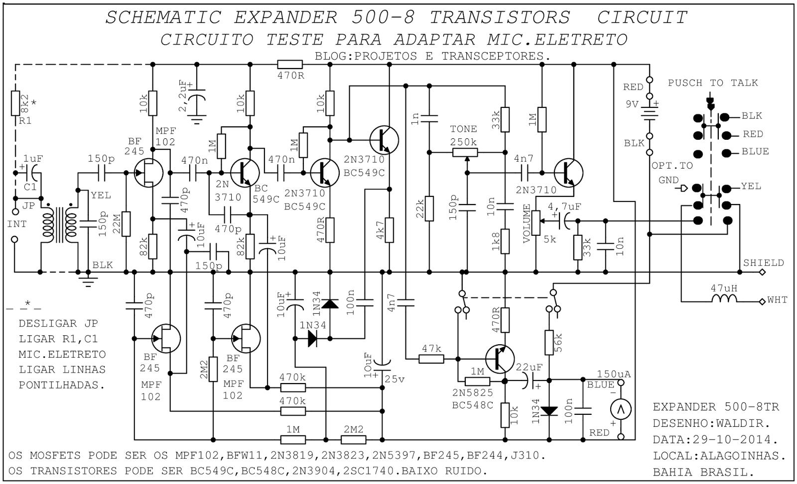 Projetos E Transceptores Esquema Pre Expander 500 Ex 500