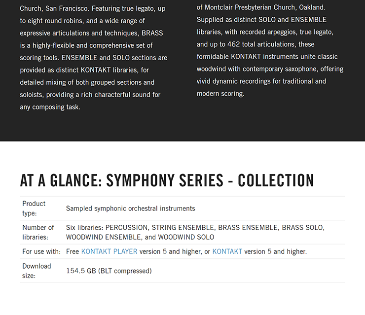 NATIVE INSTRUMENTS - Symphony Series | Collection [KONTAKT