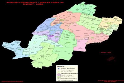 नीमकाथाना का मानचित्र