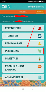 Cara Membeli Token Listrik Menggunakan Aplikasi BNI Mobile Banking Di Android