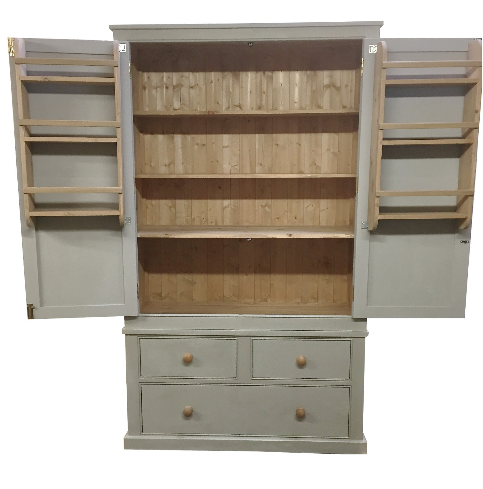 kitchen larder unit farmhouse country pantry storage ebay. Black Bedroom Furniture Sets. Home Design Ideas