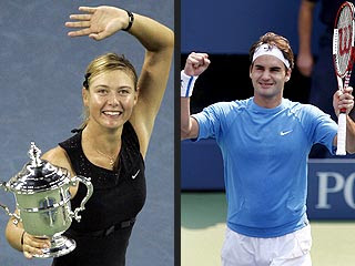 Federer, Sharapova de Murray