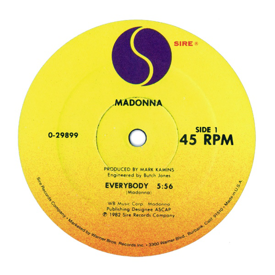 Madonna, Everybody 1982 side A