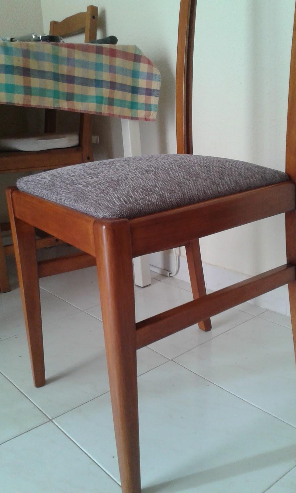 Muebleschulos como tapizar y transformar una silla - Como tapizar una silla con respaldo ...