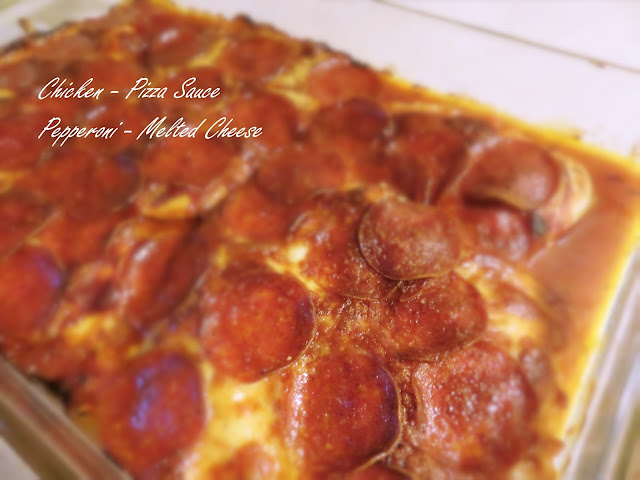 Low Carb Chicken Pepperoni Pizza