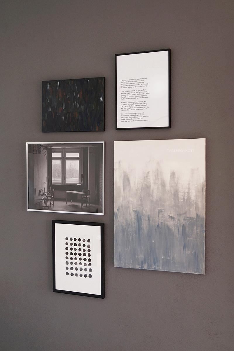 Perfekte Bilderwand gestalten DIY-Anleitung // Tutorial: How to arrange a gallery wall | Tasteboykott