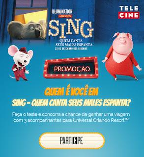 """Promoção """"Sing e Telecine"""""""