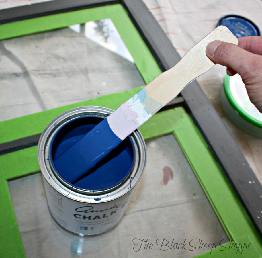 Napoleonic Blue chalk paint is a bold color.