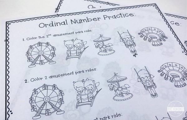 ordinal numbers for kids