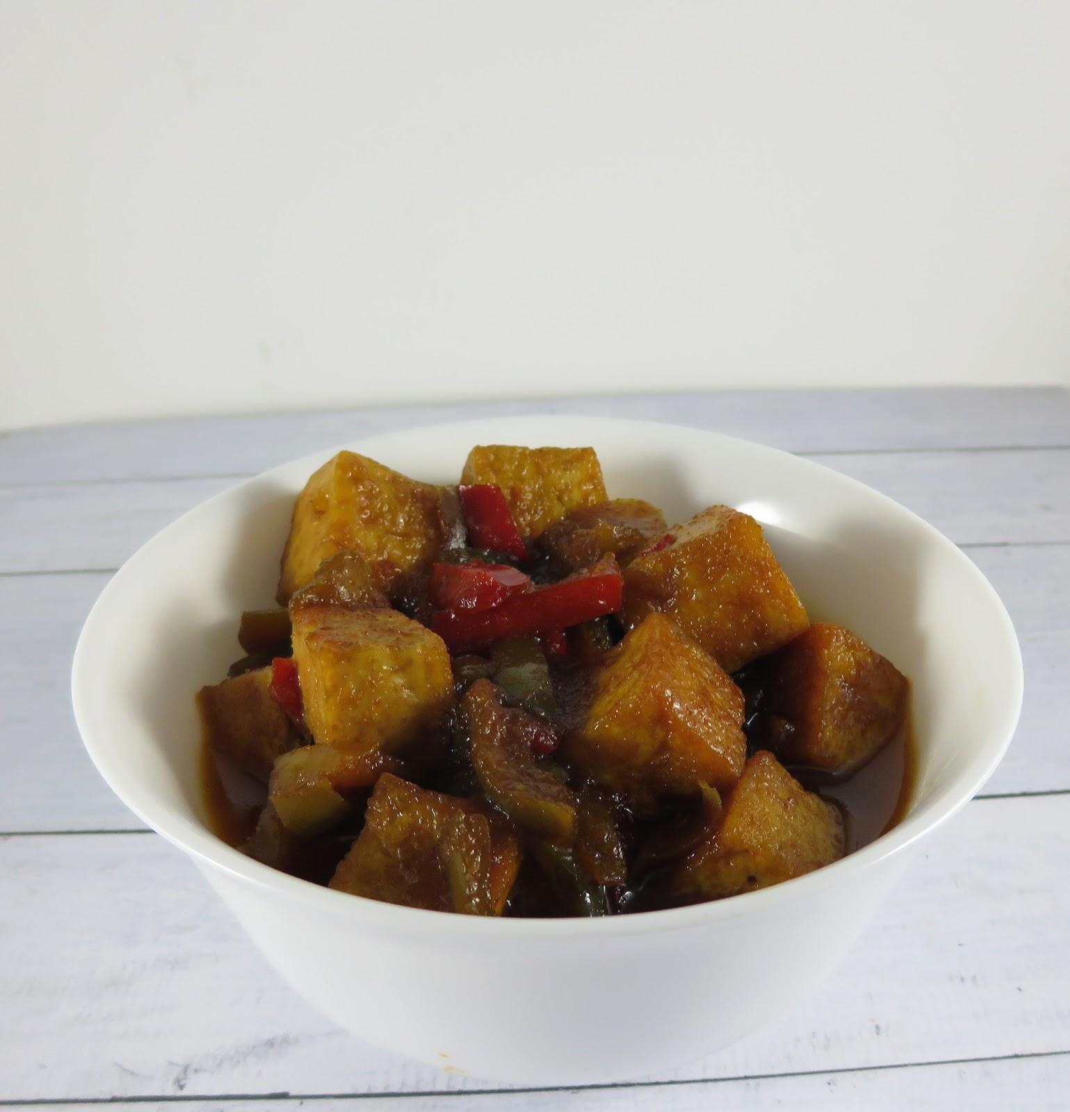 Schmorbraten vom Tofu indonesisch kochen
