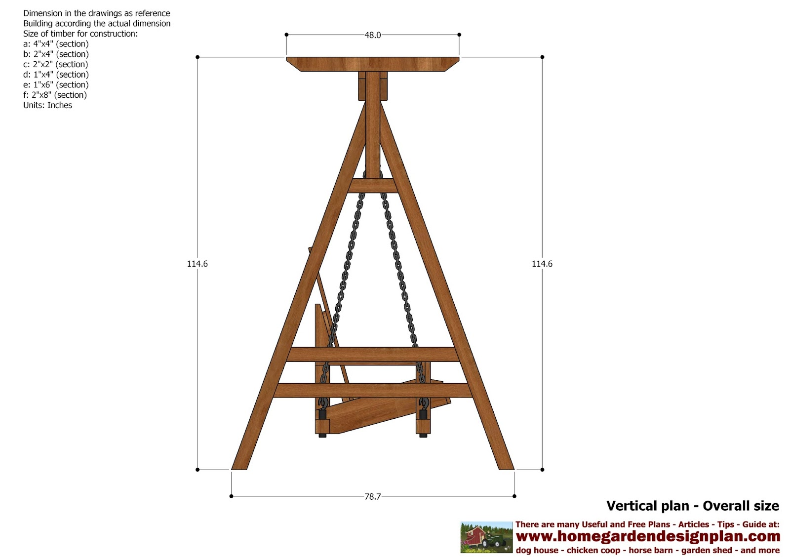 Swing Chair Drawing Can You Paint A Leather Home Garden Plans Sw101 Arbor Construction