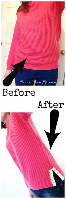 Easy fix for a top that is too tight around the bottom