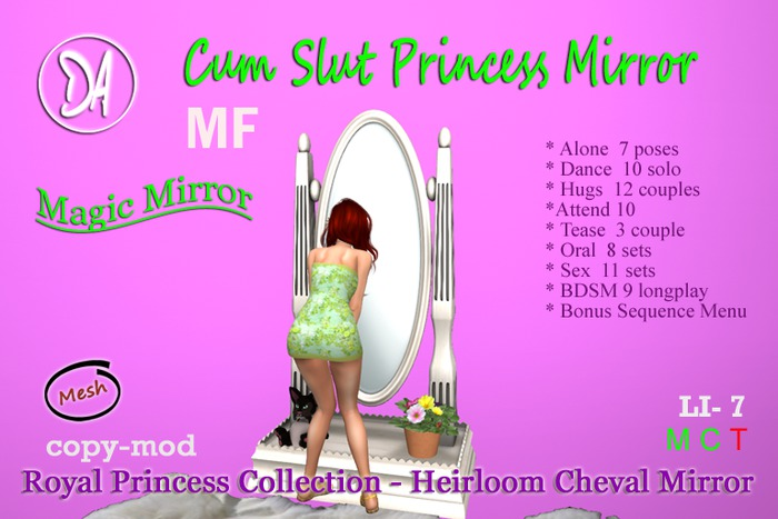 Mindy Astermann is working industriously on new releases and updates of her  fine furniture and creations. New DA+ Cum Slut Princess Heirloom Standing  Mirror ...