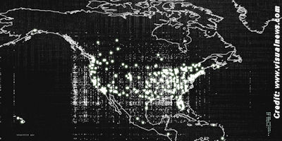 18,000 UFO Sightings Visualized on a World Map