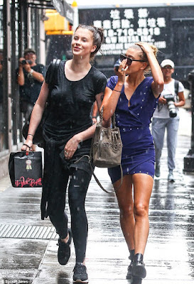 b54a792f48 Ireland Baldwin stepped out in T-shirt with no bra ..and then the rain  fell... -)