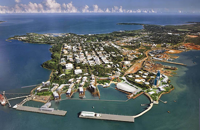 Imagem aérea da cidade de Darwin - Austrália