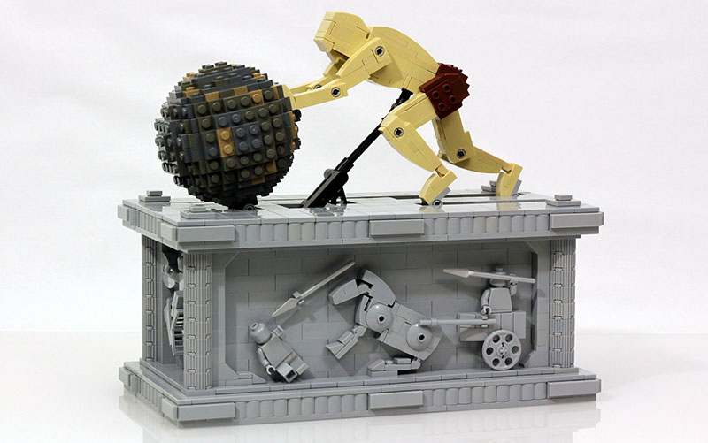 Sisyphus Kinetic Sculpture Made of Lego by Jason Allemann