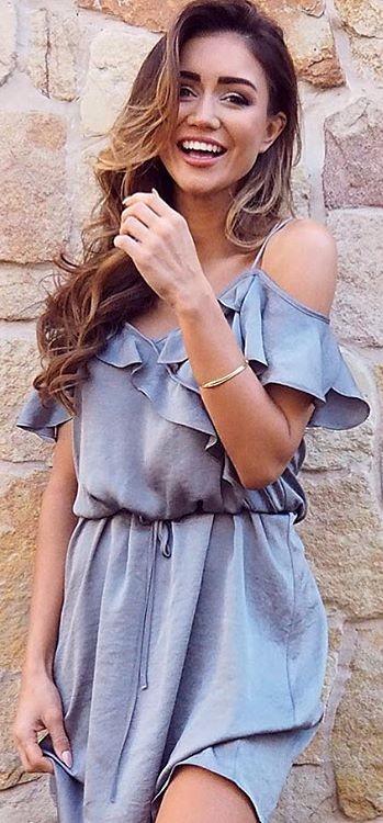 cold shoulder addiction   pale blue maxi dress
