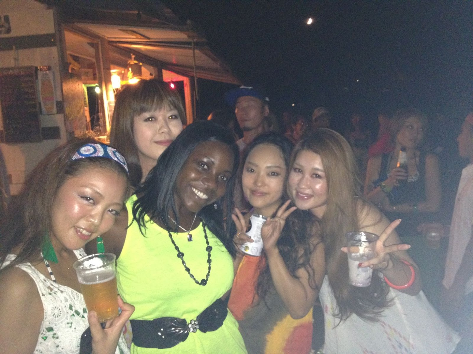 Maki (on the left) also visited Jamaica before and went to a few of those