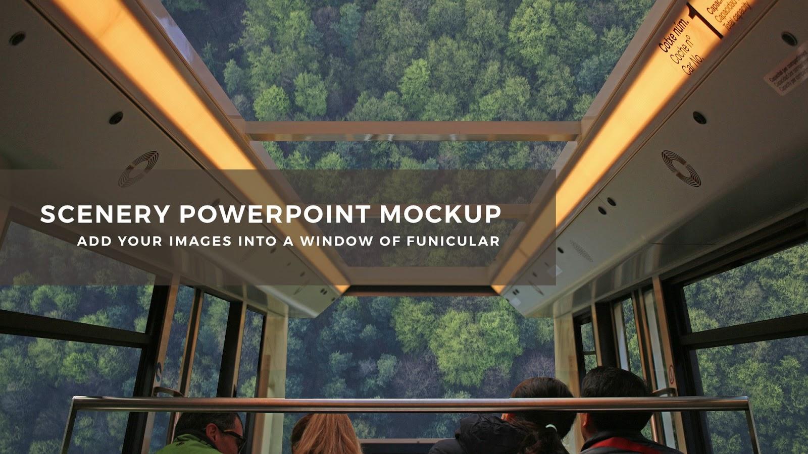 scenery powerpoint mockup template
