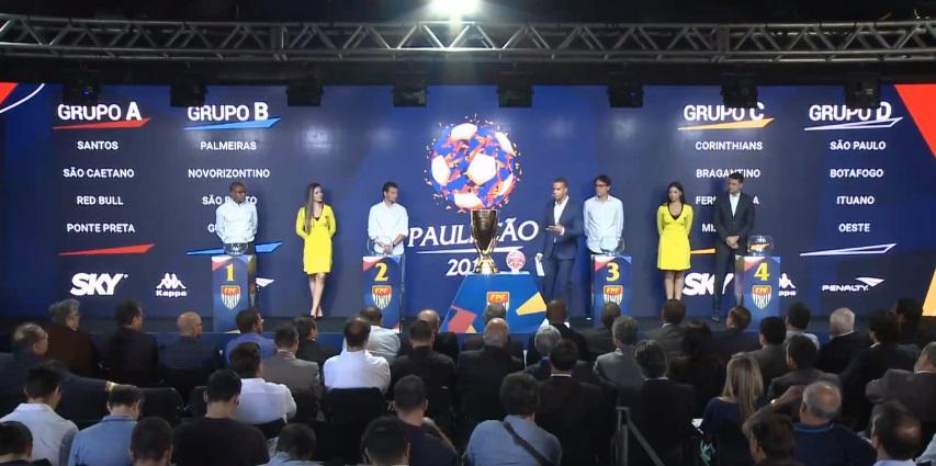SANTÁSTICO RESENHA  Sorteio define grupos do Paulista-2019. Veja ... c6506568ffa5d