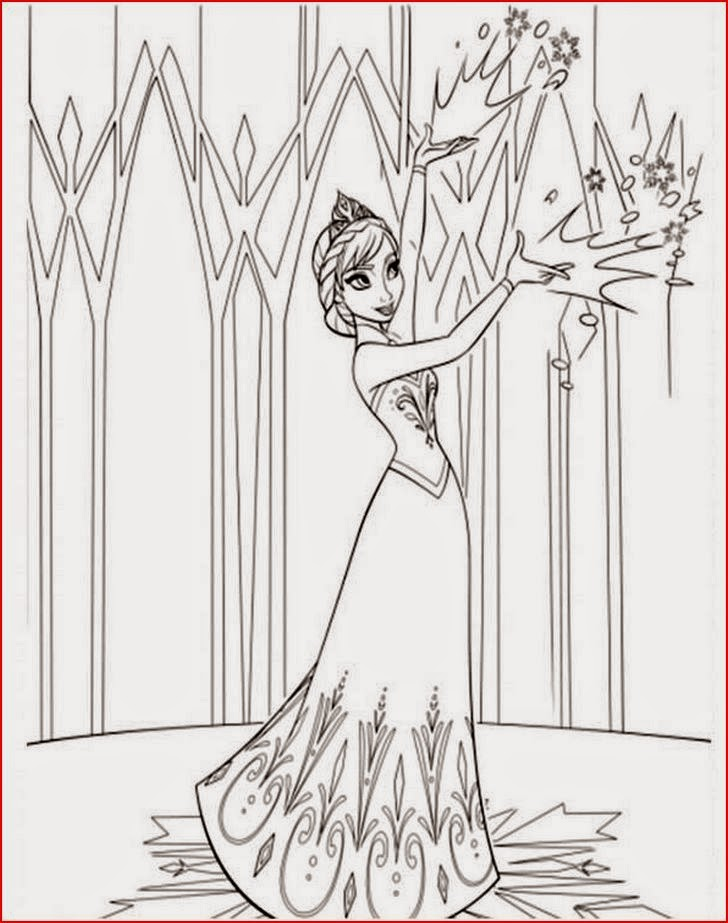 Coloring Pages Frozen Castle Coloring
