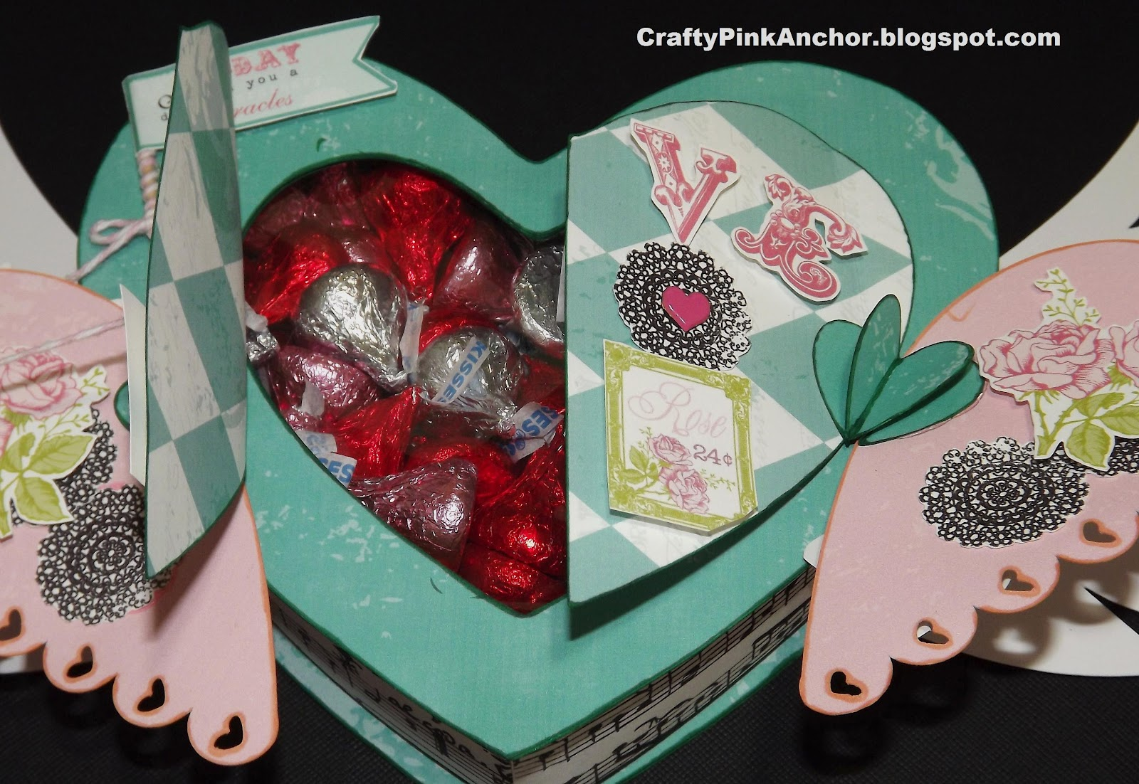 Crafty Pink Anchor You Make My Heart Flutter