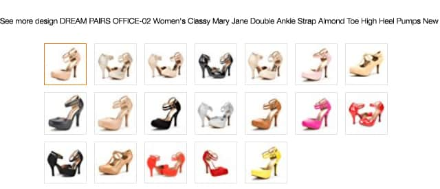 DREAM PAIRS OFFICE-02 Women's Classy Mary Jane Double Ankle Strap Almond Toe High Heel Pumps