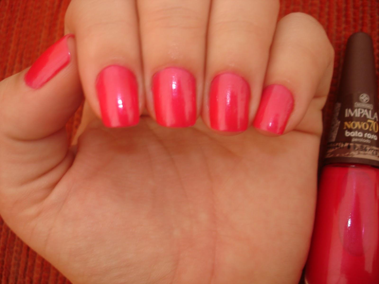 8b3c7c835de26 Esmaltada da semana rosa novamente. Adorei a cor!