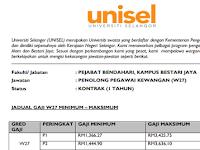 Jawatan Kosong di Universiti Selangor - Gaji RM1,366.27 RM3,425.75