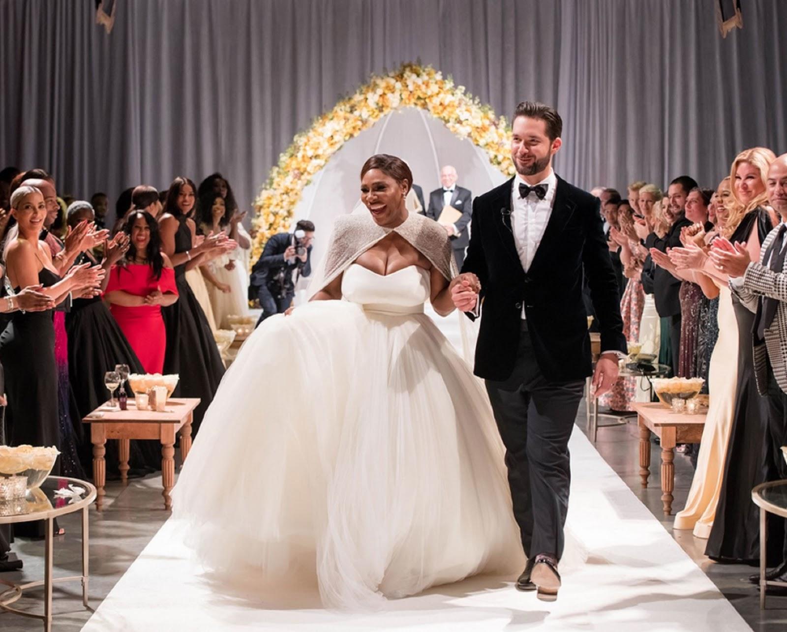 SERENA WILLIAMS, ALEXIS OHANIAN WEDDING 2