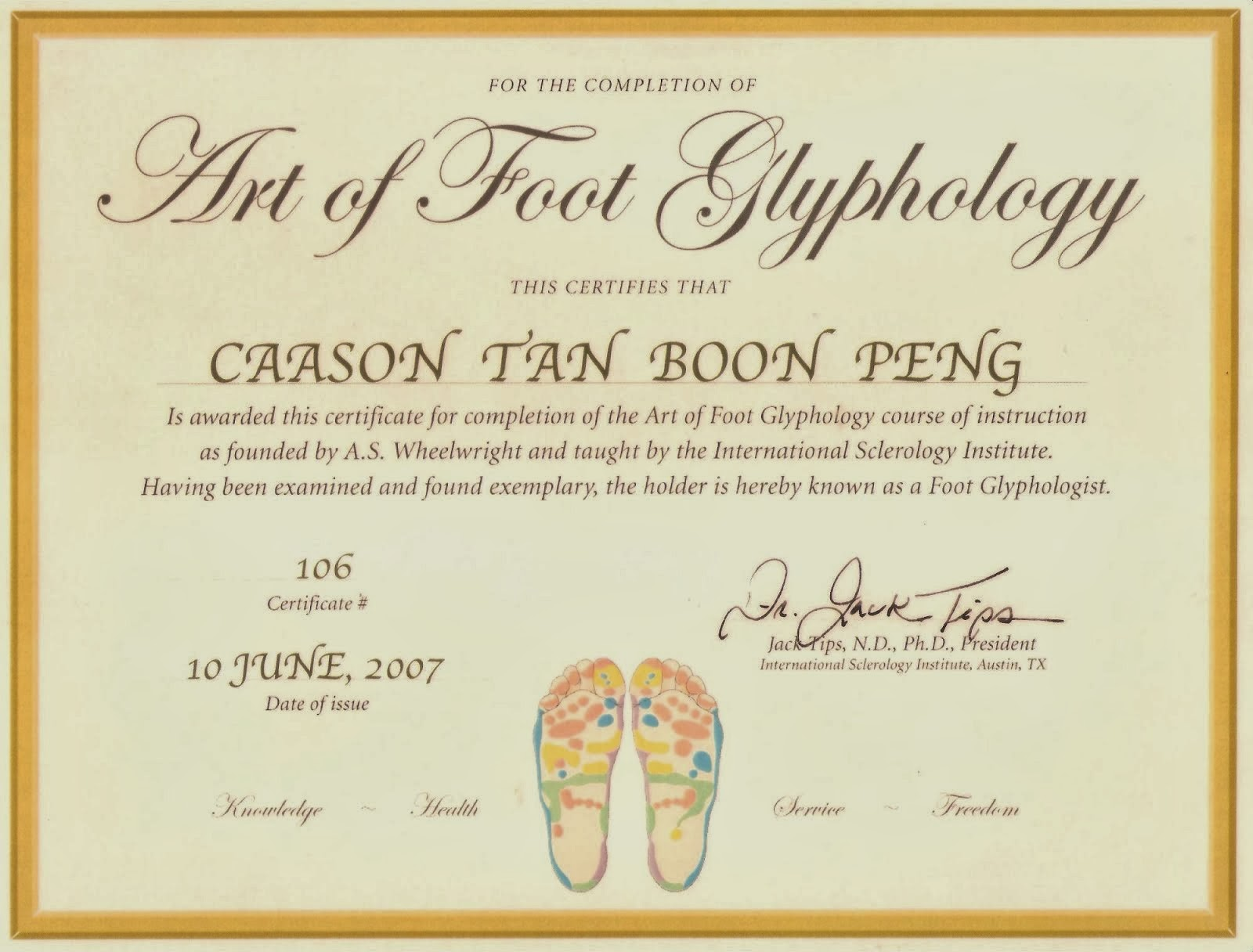 Certified Foot Glyphologist