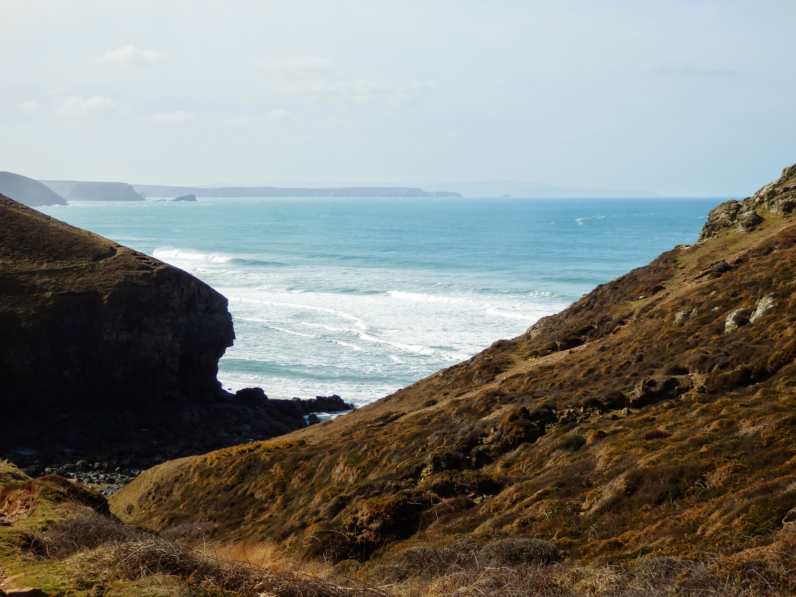 Cornwall's coastal path from Chapel Porth