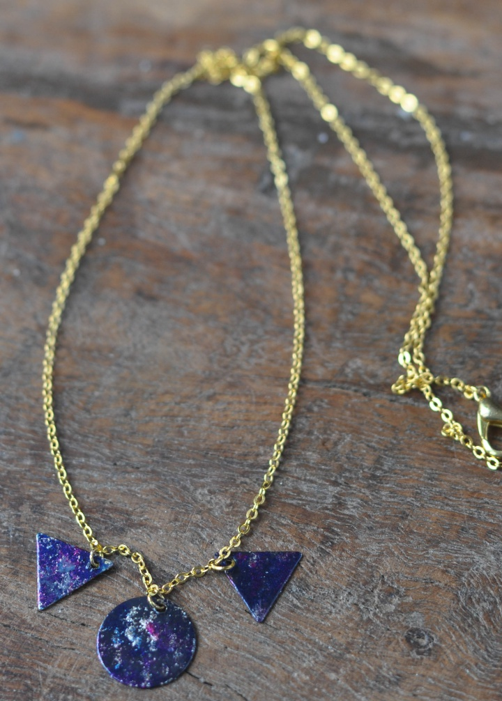 easy-peasy DIY Galaxy Necklace, a beautiful gift for someone special