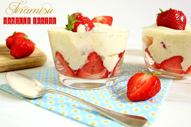 tiramisu fraise rapide
