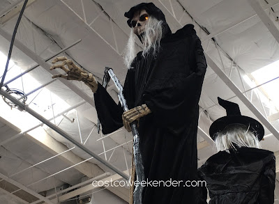 Scare the neighborhood kids this Halloween with the 6-Foot Animated Grim Reaper