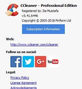 CCleaner Professional 5.41 Build 6446 + Keys