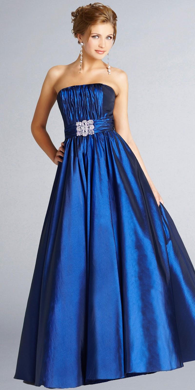 Vestidos hermosos color azul