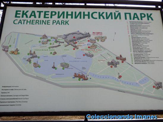 Mapa Palacio de Catalina de Pushkin