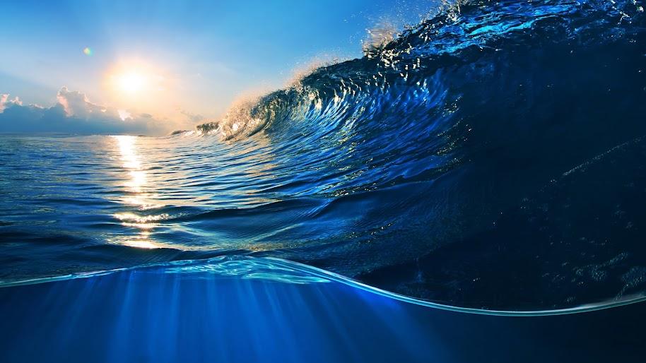 Ocean, Waves, Sunlight, Scenery, 4K, 3840x2160, #12 Wallpaper